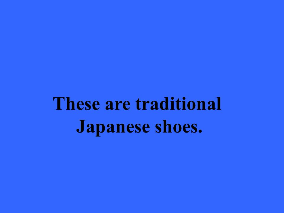 These are traditional Japanese shoes.