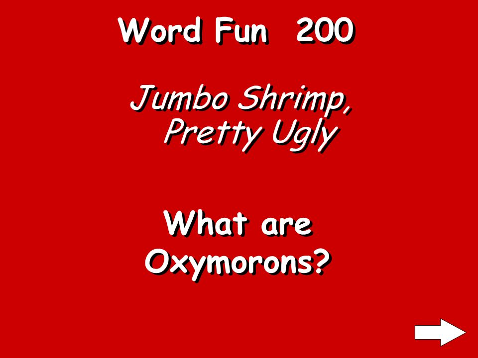 Word Fun 100 SOLOS, OTTO, EVE What are palindromes