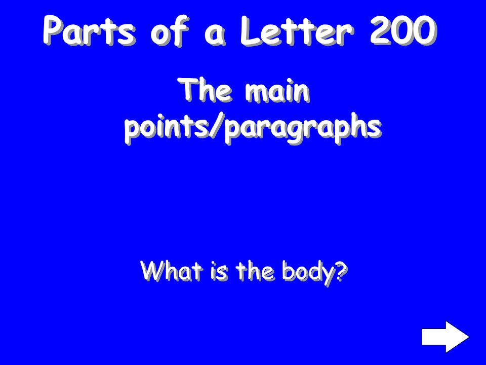 Parts of a Letter 100 Dear Mr. Hoffman: What is the Salutation