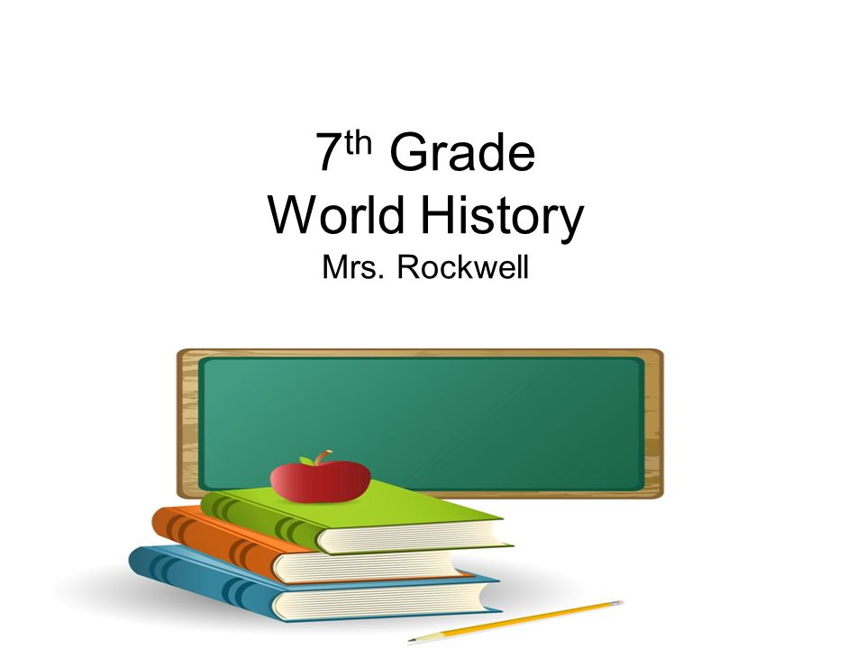 7 th Grade World History Mrs. Rockwell