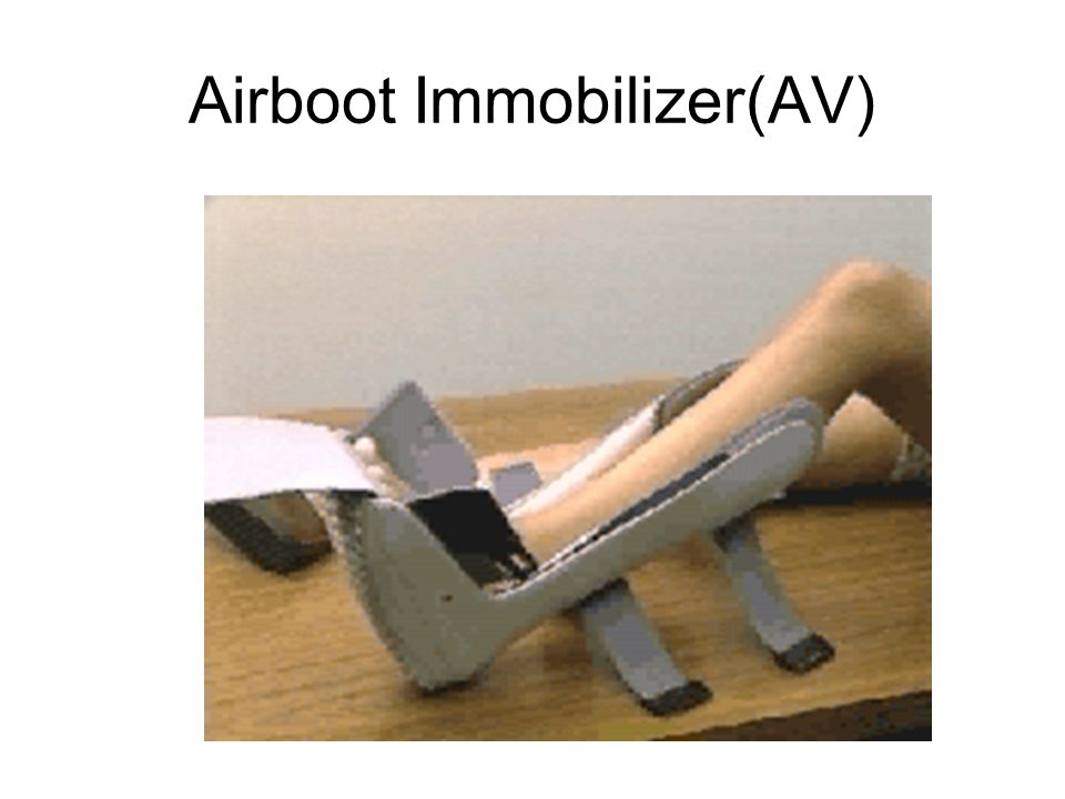 Applying an emergency splint 8.
