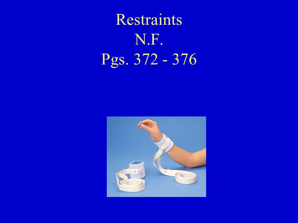 Restraints N.F. Pgs. 372 - 376