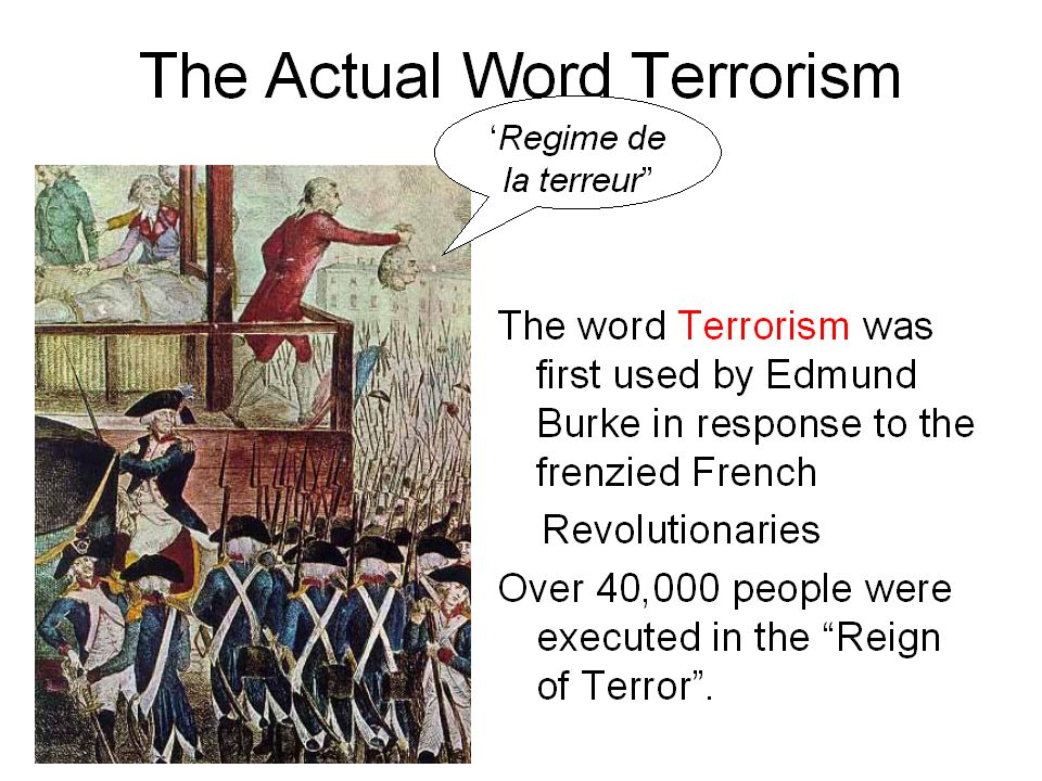 In the latter half of the 19th century, terrorism was adopted by adherents of anarchism in Western Europe, Russia, and the United States.