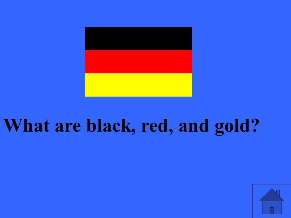What are black, red, and gold?