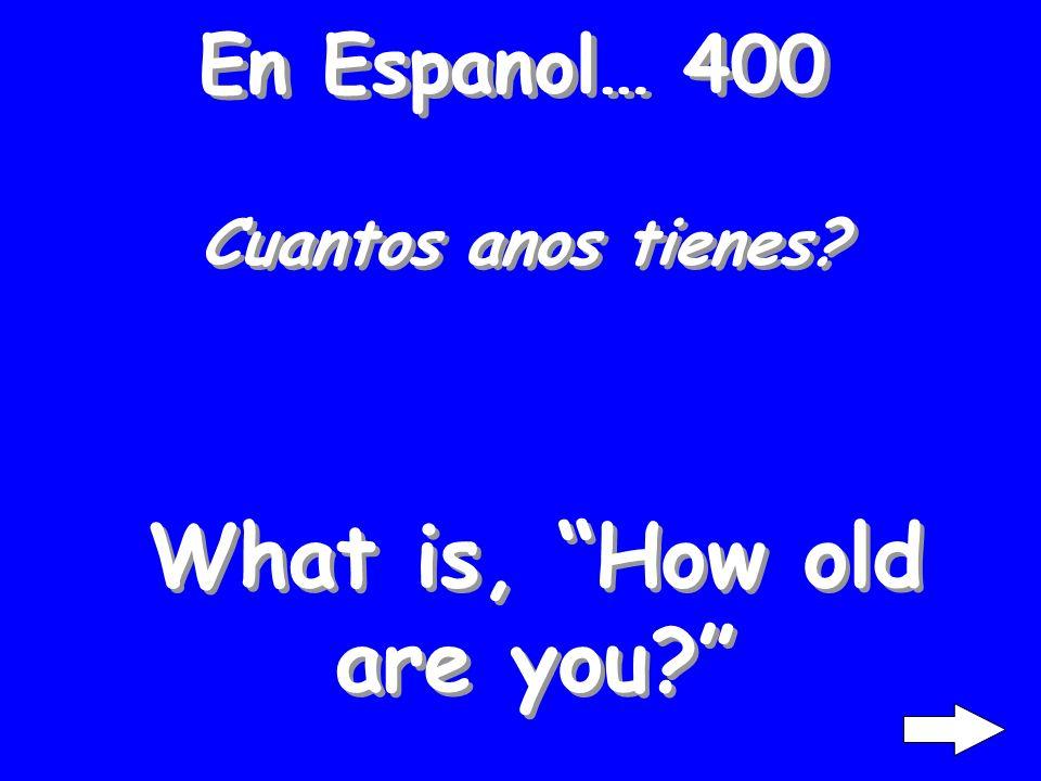 En Espanol… 300 Mucho gusto! What is, Nice to meet you?