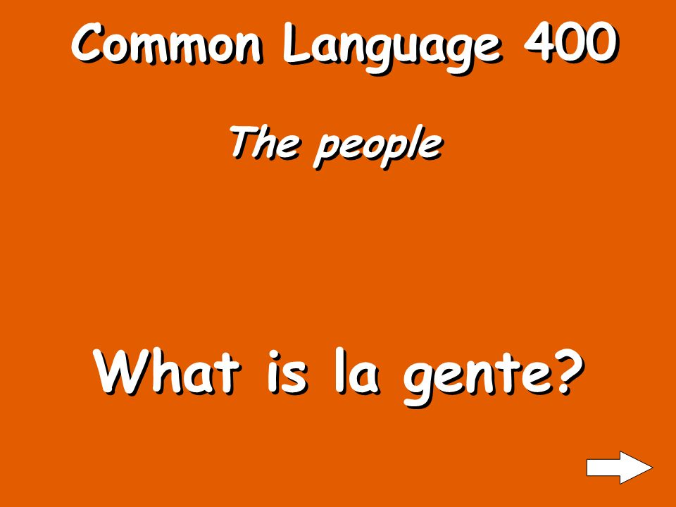 Common Language 300 State What is estado