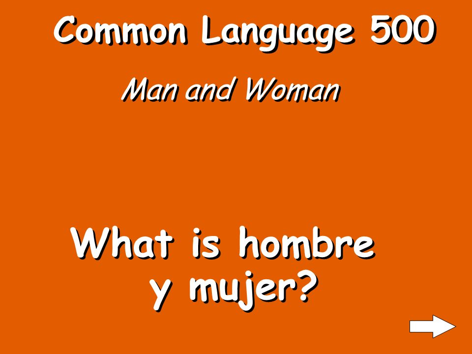 Common Language 400 The people What is la gente?