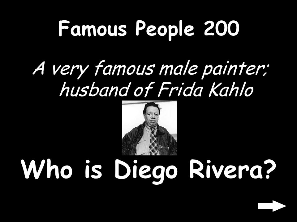 Famous People 100 A very famous female painter Who is Frida Kahlo