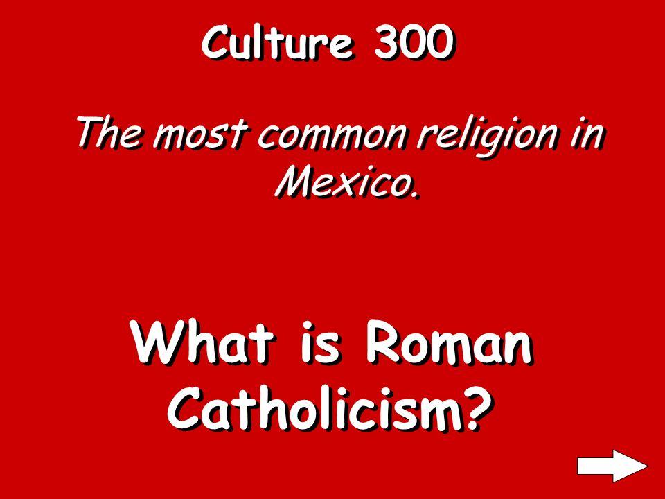 Culture 200 The capital of Mexico. What is La Ciudad de Mexico?