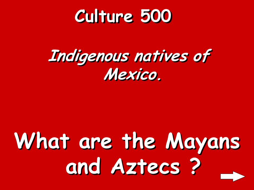 Culture 400 The center of a Mexican social structure. What is the family ?