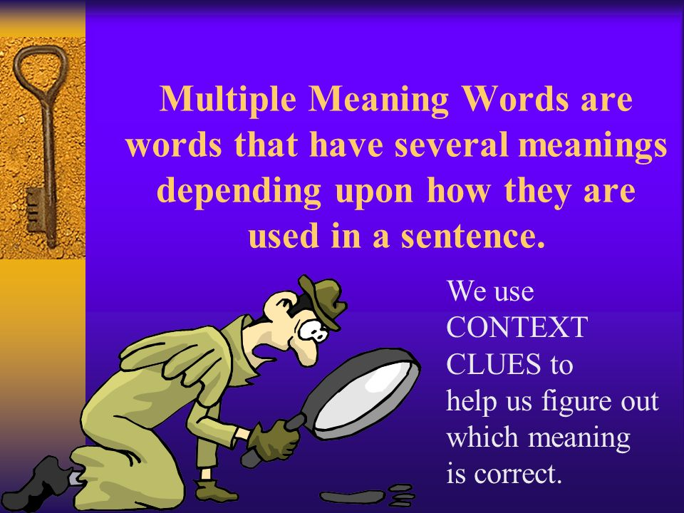 Multiple Meaning Words Grade 4