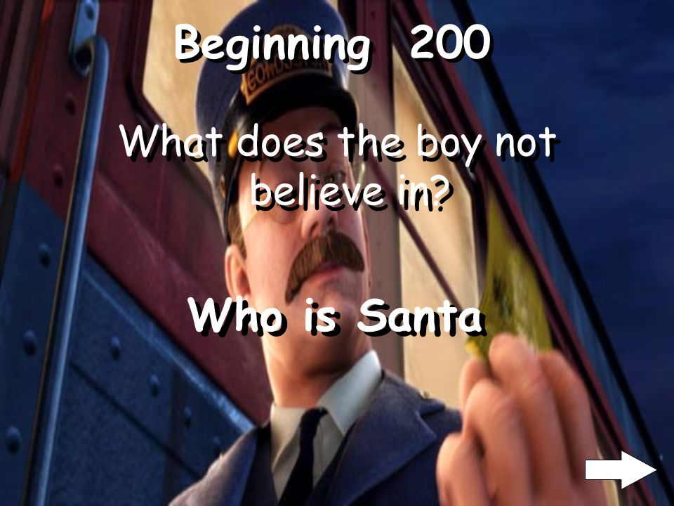 Ending 200 What does the boy ask for from Santa? What is a sleigh bell