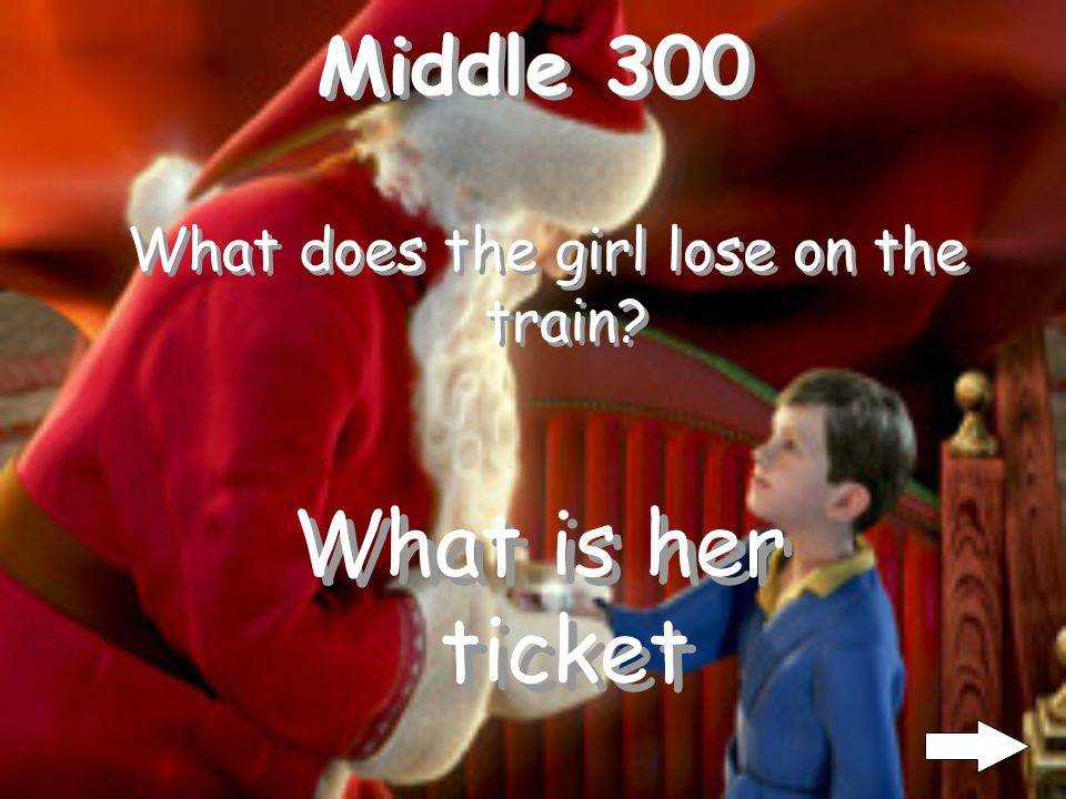 Middle 300 What does the girl lose on the train? What is her ticket