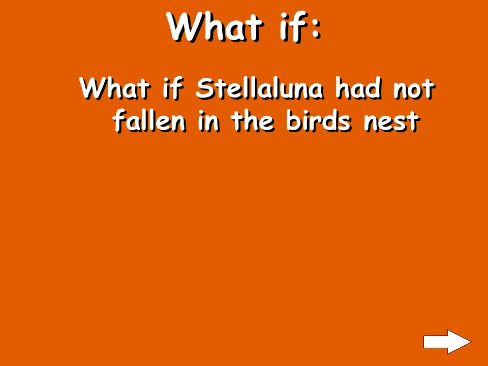 What if: How are the baby birds and Stellaluna alike?