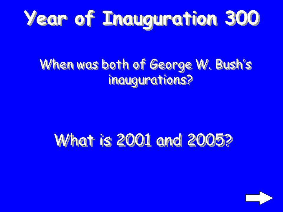 Year of Inauguration 200 When was Kennedy inaugurated What is 1961