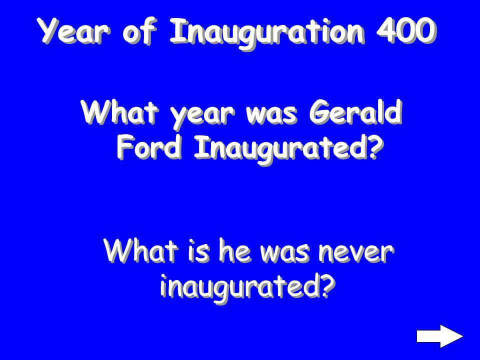 Year of Inauguration 300 When was both of George W. Bushs inaugurations What is 2001 and 2005
