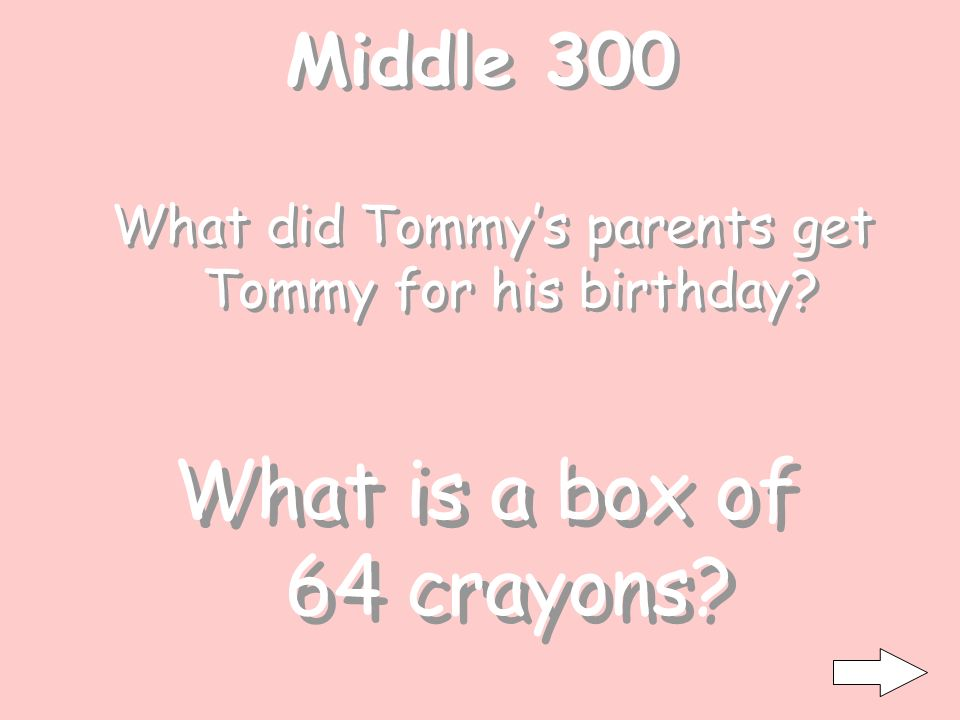 Middle 200 What was the teacher wearing for Tommy to know she was an art teacher.