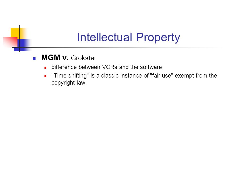 Intellectual Property MGM v.