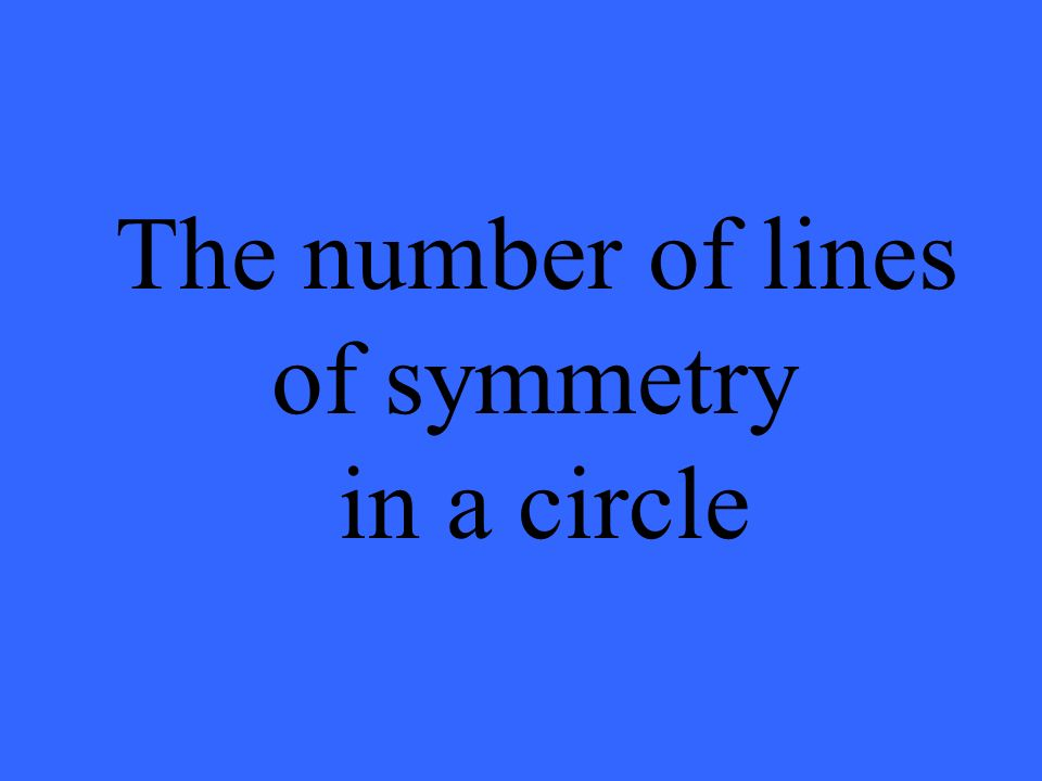 The number of lines of symmetry in a circle