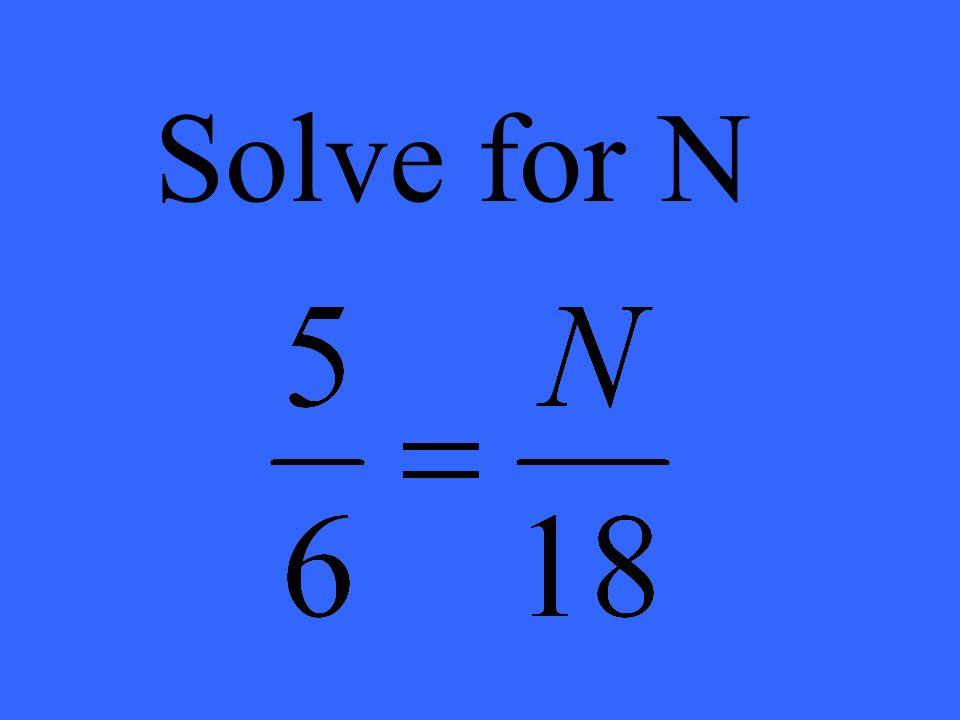 Solve for N