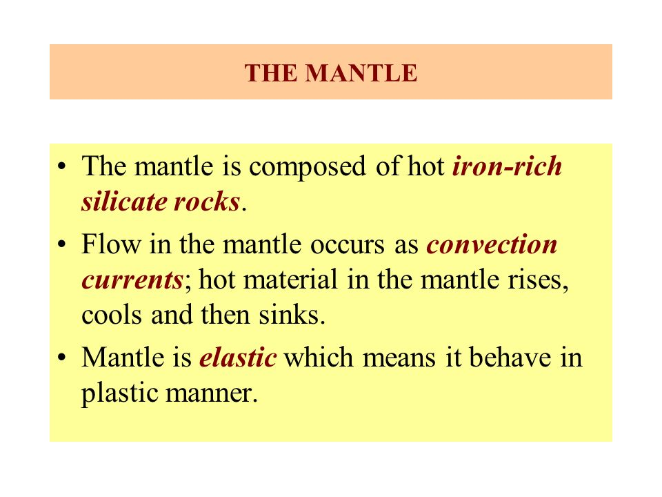 Convection Currents in The Mantle Cause Flow in The Mantle Occurs as Convection Currents Hot Material in The Mantle