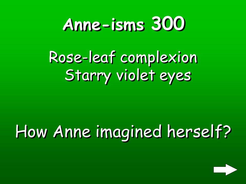 Anne-isms 200 Katie Maurice and Violetta Katie Maurice and Violetta Who were Annes make- believe friends