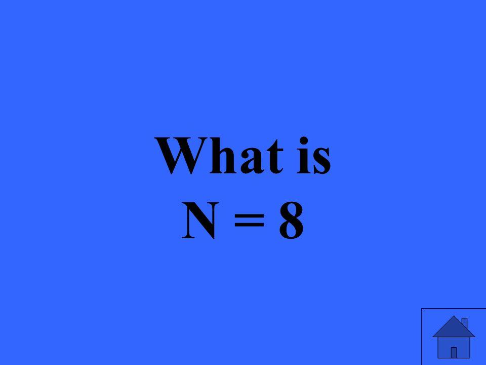 What is N = 8