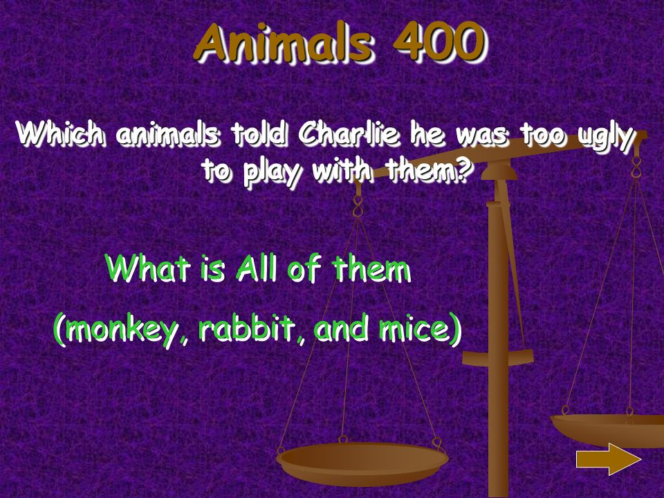 Animals 300 What animal did Charlie want to play miniature golf with What is a mice