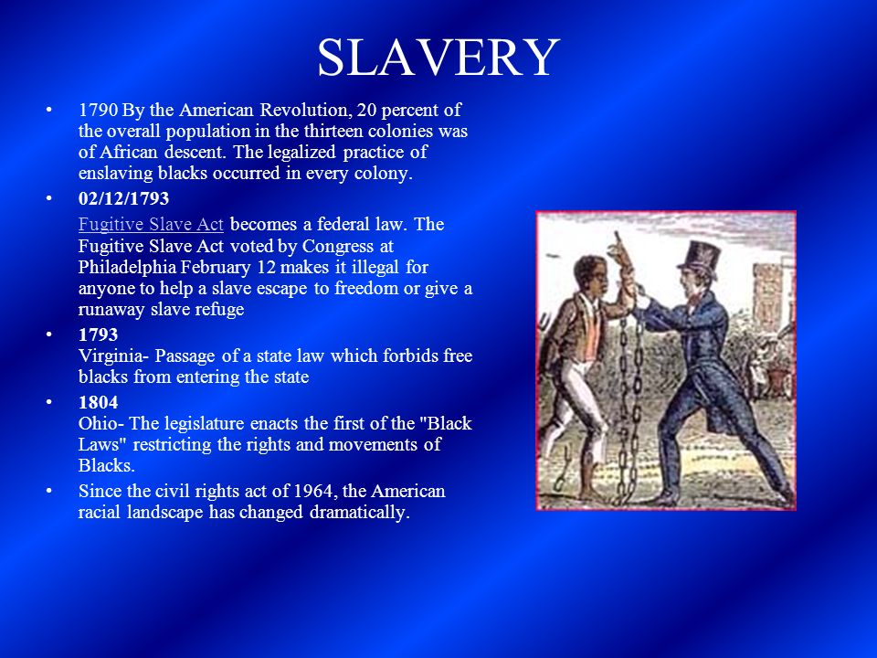 Slavery Cont.