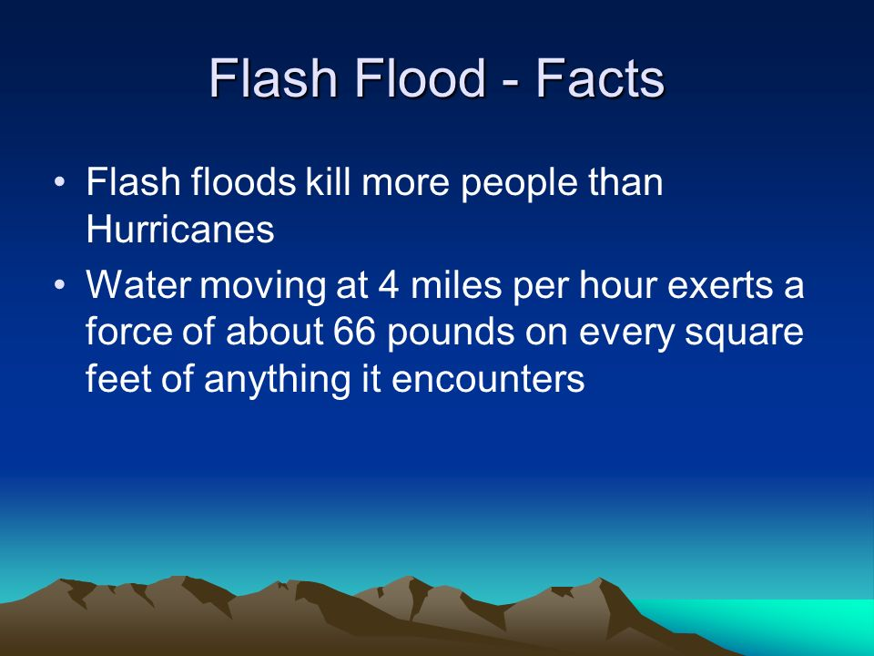 Is flood water fresh water or salt water.If you guessed fresh water you are mostly right.