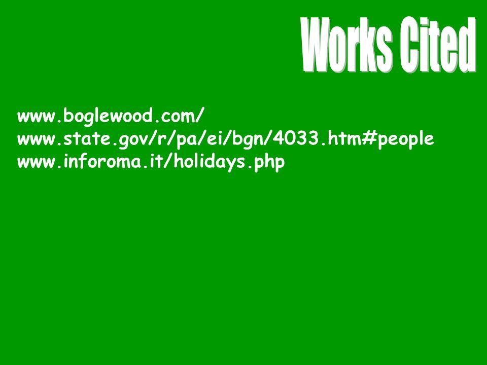 www.boglewood.com/ www.state.gov/r/pa/ei/bgn/4033.htm#people www.inforoma.it/holidays.php