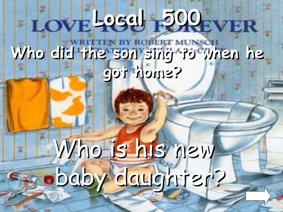 Ending 400 What did the son do to his sick mother? What is rock her and sing to her?
