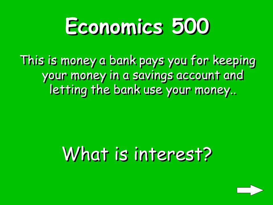 Economics 400 When you put off paying for something until later, you use this.. What is credit