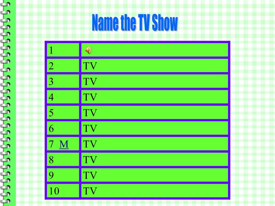 1TVTV The Adams Family 2TVTV All in the Family 3TVTV Room 222 4TVTV Sanford and Son 5TVTV Seinfeld 6TVTV Married with Children 7 MMTVTV The Laverne and Shirley 8TVTV The Love Boat 9TV TV Leave it to Beaver 10TVTV Mayberry RFD