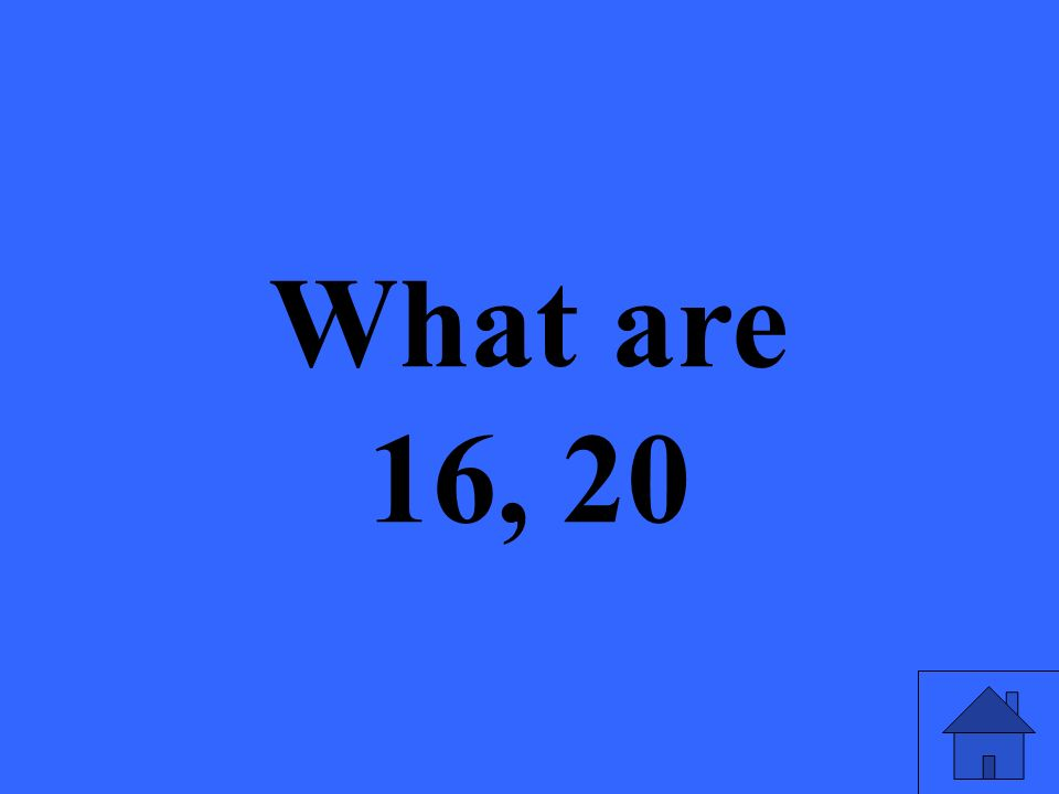 What are 16, 20
