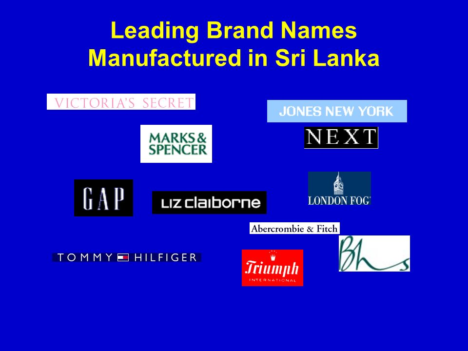 Leading Brand Names Manufactured in Sri Lanka