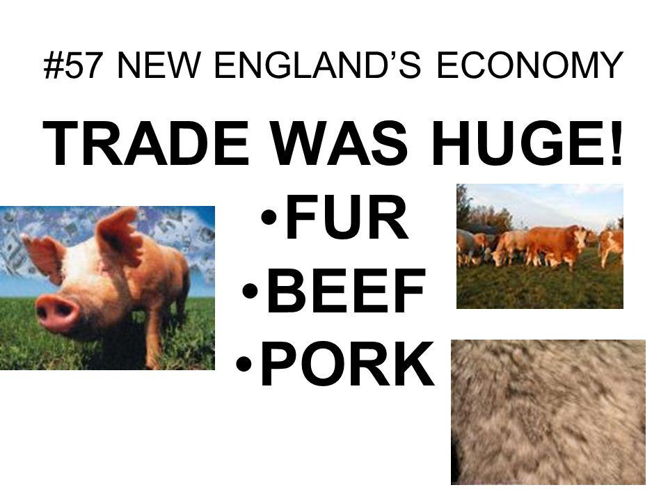 #57 NEW ENGLANDS ECONOMY TRADE WAS HUGE! FUR BEEF PORK