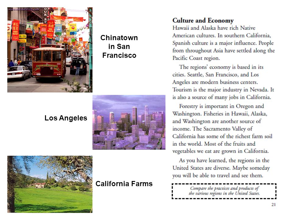 Chinatown in San Francisco Los Angeles California Farms