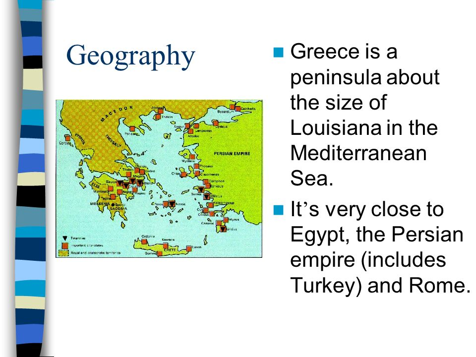 Greek geography Greece is mountainous Greek communities often times developed independently because of the mountains, thus they were diverse As a result, they fought each other a lot.