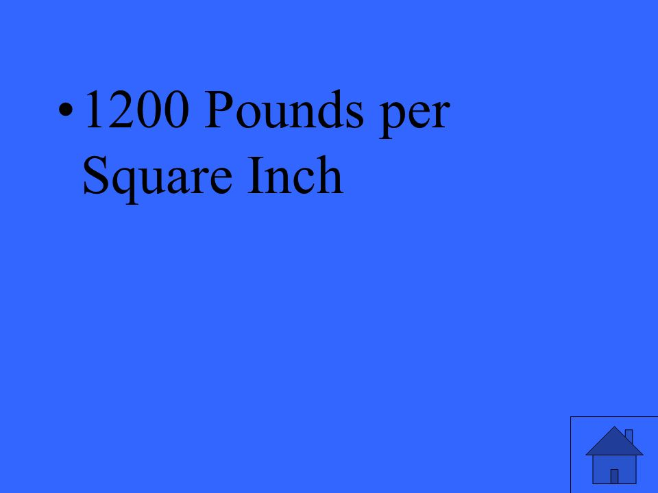 1200 Pounds per Square Inch