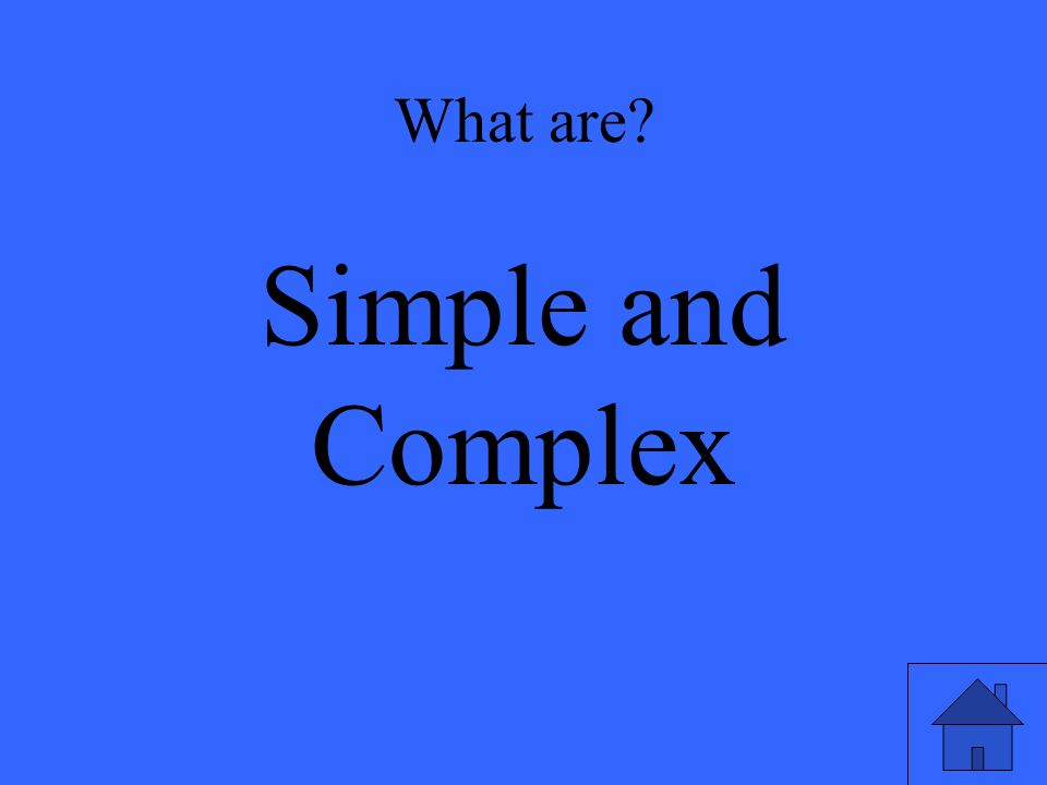 What are Simple and Complex