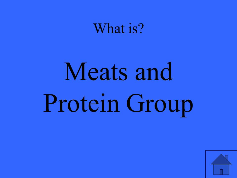 What is Meats and Protein Group