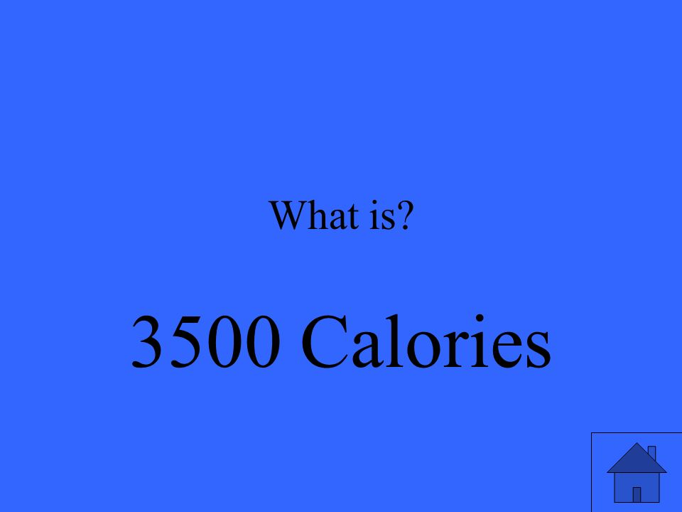 What is 3500 Calories