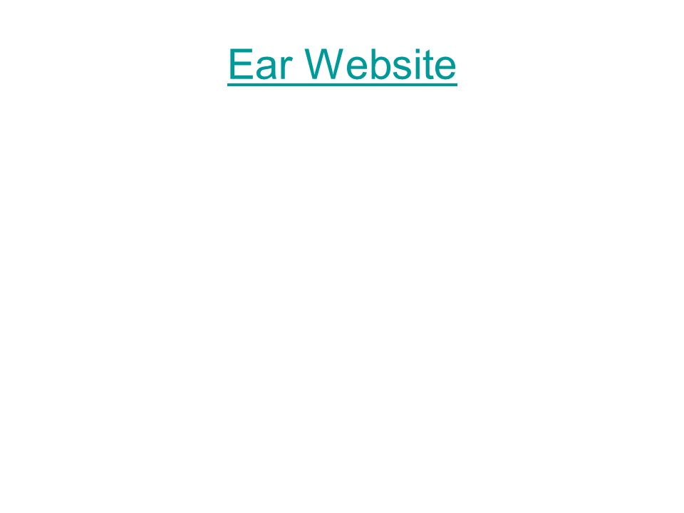 Ear Website