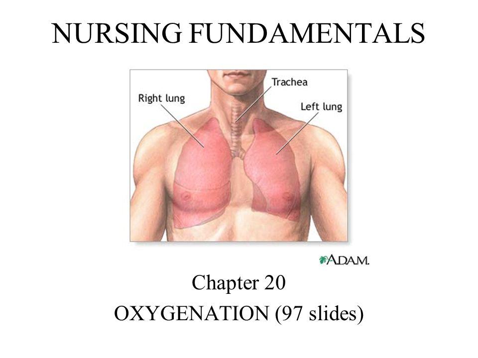 NURSING FUNDAMENTALS Chapter 20 OXYGENATION (97 slides)