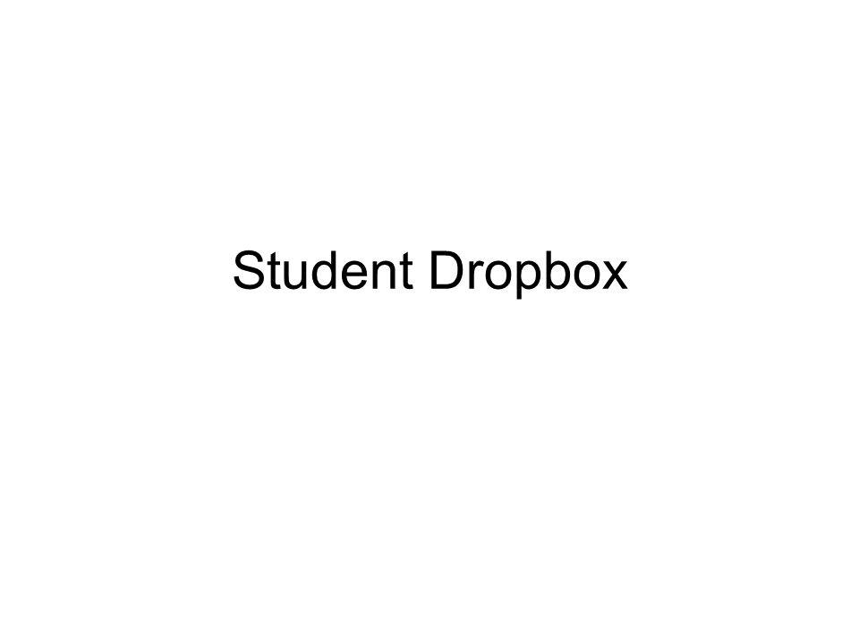 Student Dropbox