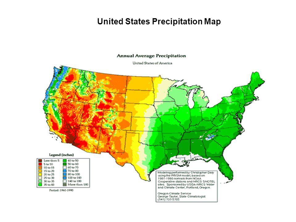 United States Precipitation Map