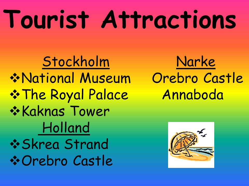 Tourist Attractions Stockholm Narke National Museum Orebro Castle The Royal Palace Annaboda Kaknas Tower Holland Skrea Strand Orebro Castle
