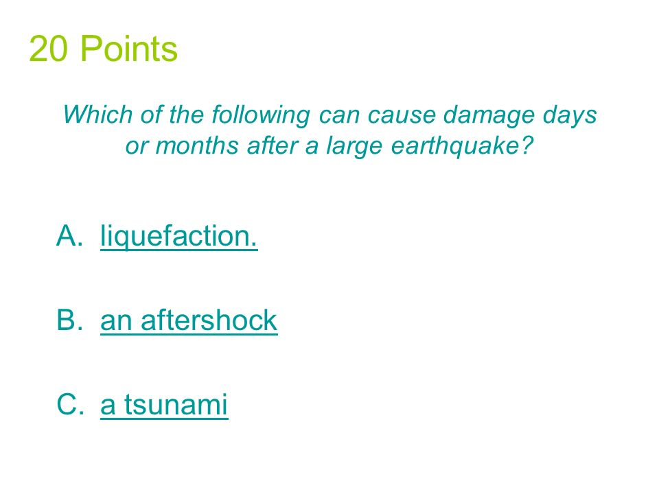 The point beneath Earths surface where rock breaks under stress and triggers an earthquake is called the A.focus.focus.