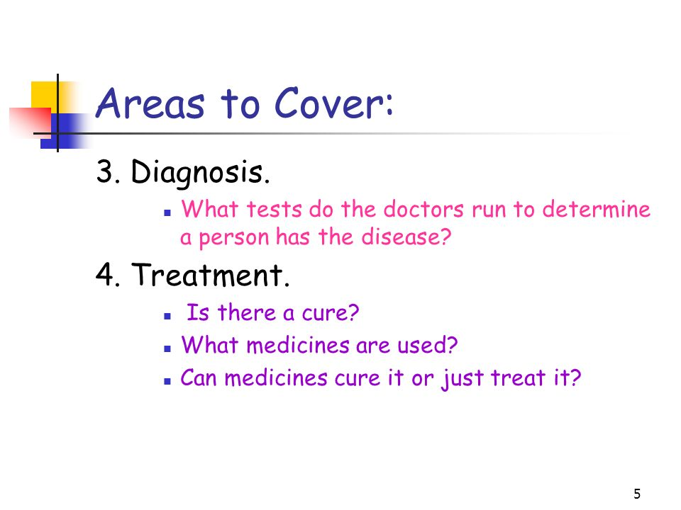 5 Areas to Cover: 3. Diagnosis.